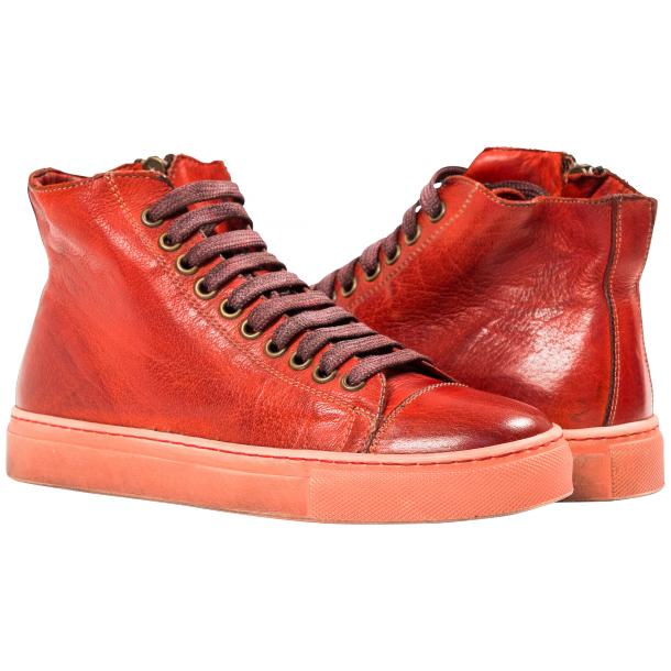 Nova Dip Dyed Red High Top Sneaker full-size #1