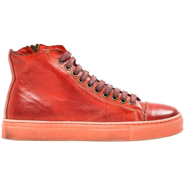 Nova Dip Dyed Red High Top Sneaker full-size #4
