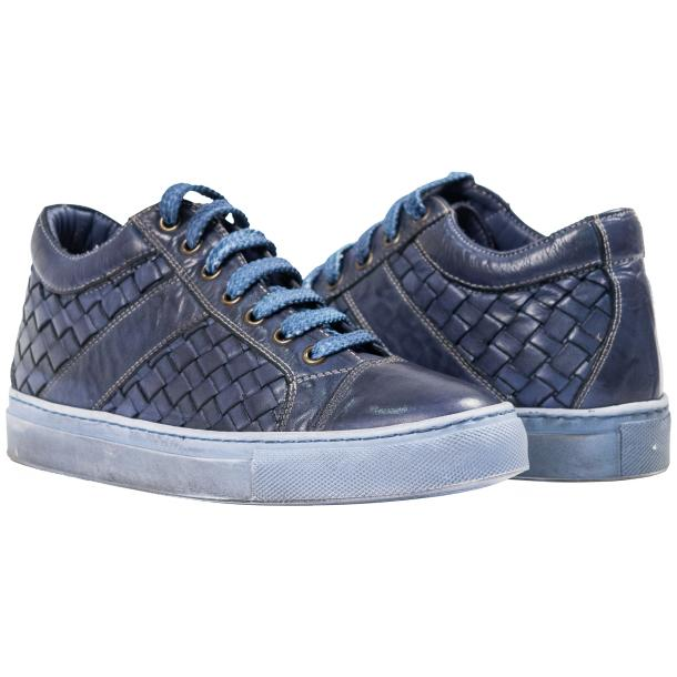 Veronica Dip Dyed Pacific Hand Woven Low Top Sneaker  full-size #1