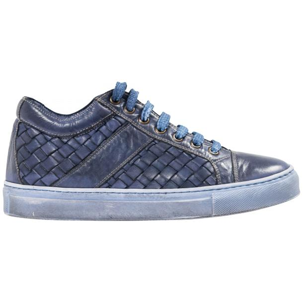 Veronica Dip Dyed Pacific Hand Woven Low Top Sneaker  full-size #4