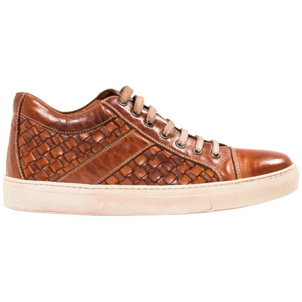 Veronica Dip Dyed Brick Hand Woven Low Top Sneaker  full-size #4