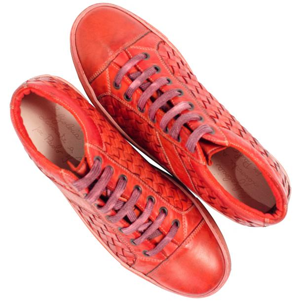 Veronica Dip Dyed Red Hand Woven Low Top Sneaker  full-size #2