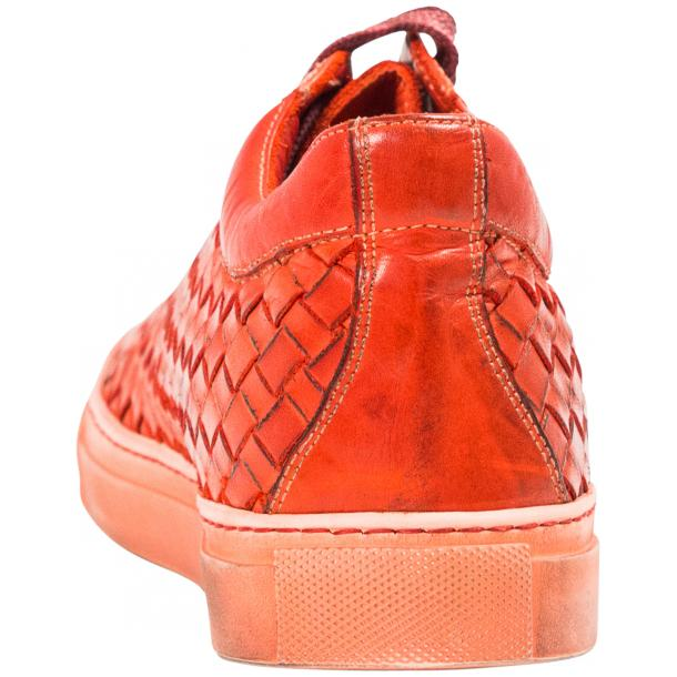 Veronica Dip Dyed Red Hand Woven Low Top Sneaker  full-size #5