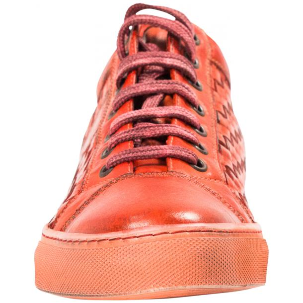 Veronica Dip Dyed Red Hand Woven Low Top Sneaker  full-size #3