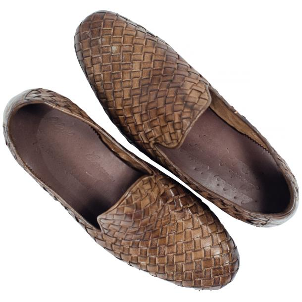 Scott Dip Dyed Moor Nappa Leather Hand Woven Slip Ons  full-size #2
