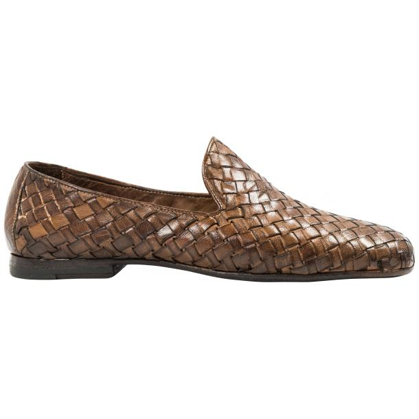 Scott Dip Dyed Moor Nappa Leather Hand Woven Slip Ons  full-size #4
