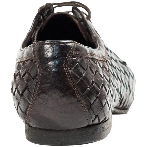 Kirk Dark Brown Dip Dyed Nappa Leather Hand Woven Lace up full-size #5