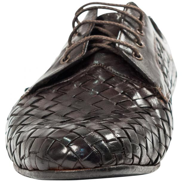 Kirk Dark Brown Dip Dyed Nappa Leather Hand Woven Lace up full-size #3