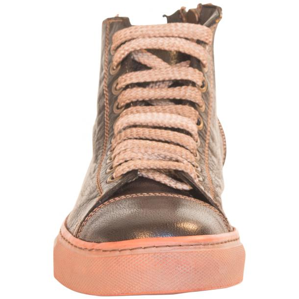 Monica Dip Dyed Dark Brown Leather Sneakers full-size #5