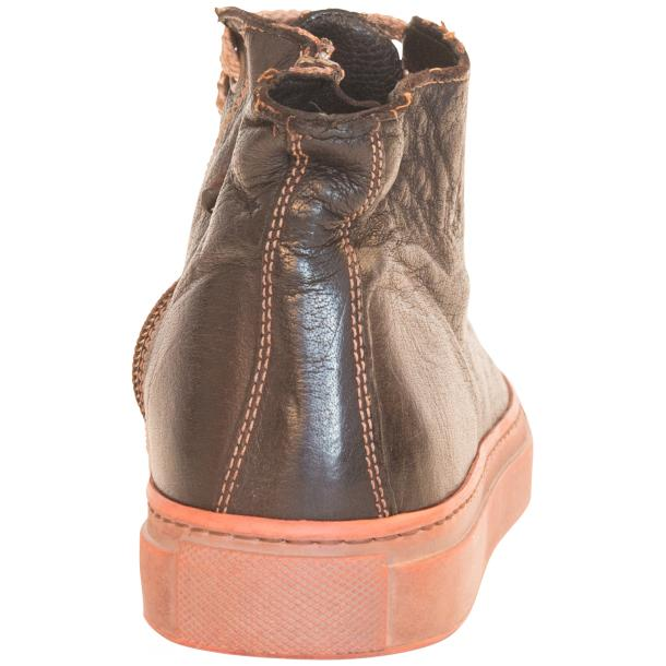 Monica Dip Dyed Dark Brown Leather Sneakers full-size #6