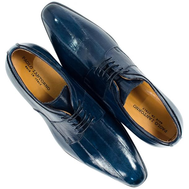 Craig Blue Eel Skin  Laced up Dress Shoes full-size #2