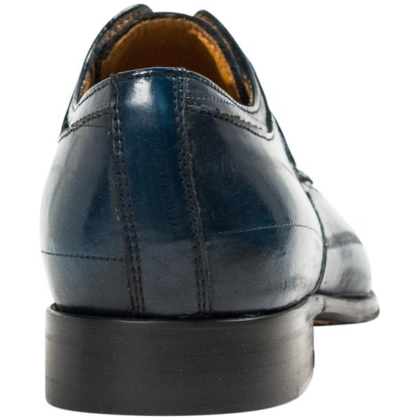 Craig Blue Eel Skin  Laced up Dress Shoes full-size #5