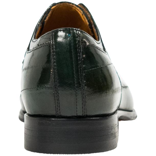 "Craig Dark Green ""Verde""  Eel Skin  Laced up Dress Shoes full-size #5"