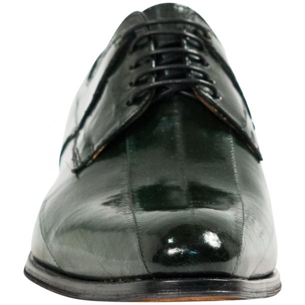 "Craig Dark Green ""Verde""  Eel Skin  Laced up Dress Shoes full-size #3"