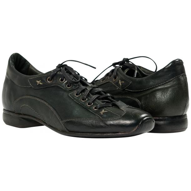 Bradley Landon Green Dip Dyed Leather Sole Sneakers full-size #1