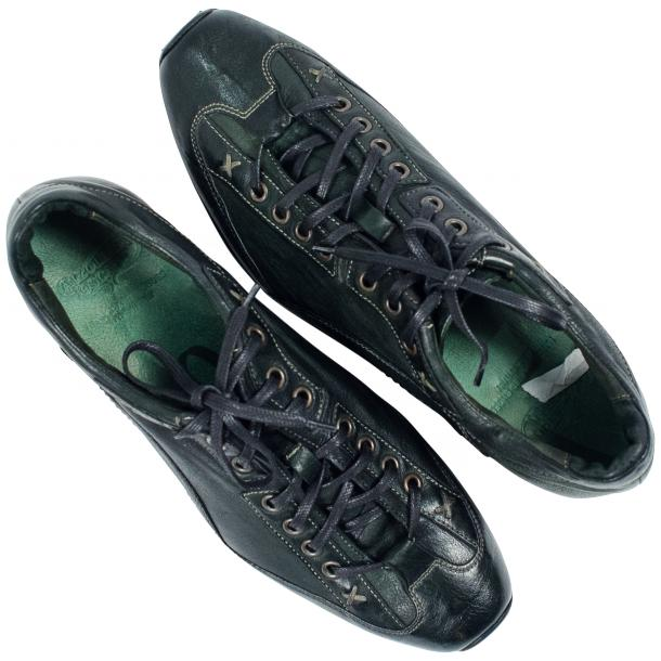 Bradley Landon Green Dip Dyed Leather Sole Sneakers full-size #2