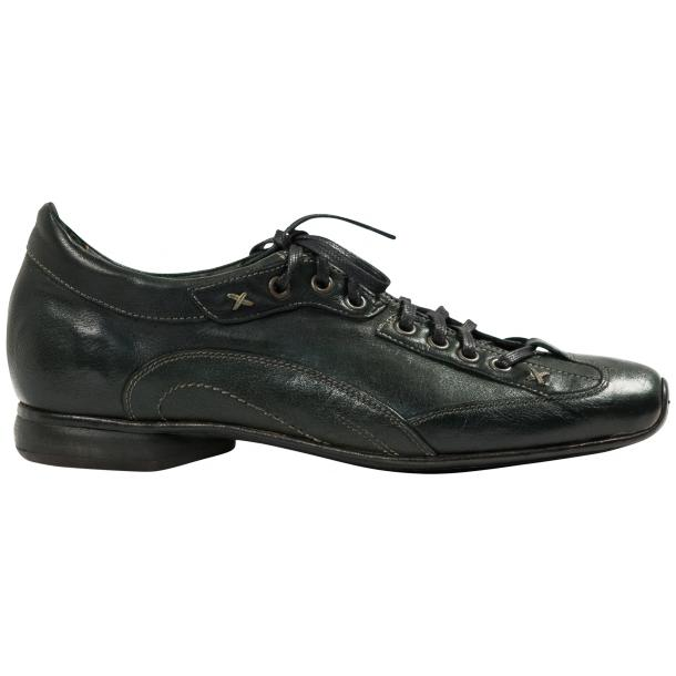 Bradley Landon Green Dip Dyed Leather Sole Sneakers full-size #4