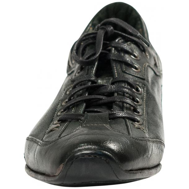 Bradley Landon Green Dip Dyed Leather Sole Sneakers full-size #3