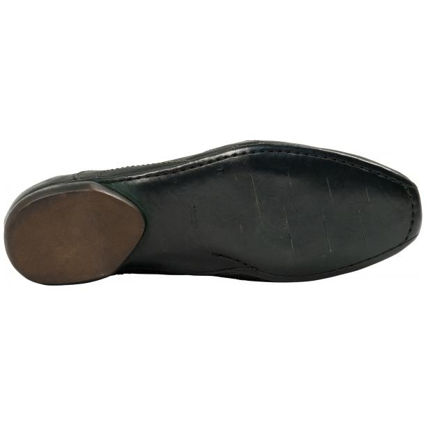 Bradley Landon Green Dip Dyed Leather Sole Sneakers full-size #6