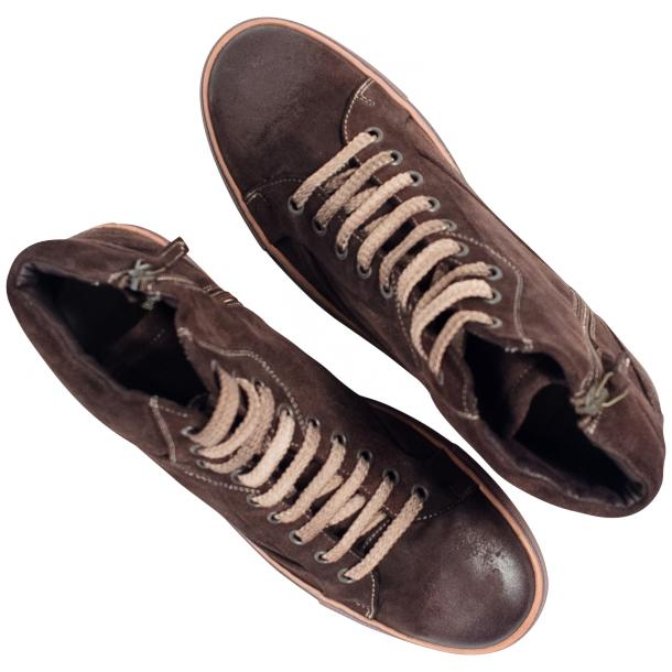 Sofie Dip Dyed Chocolate Brown Suede High Top Sneaker full-size #2