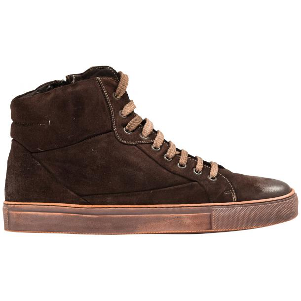 Sofie Dip Dyed Chocolate Brown Suede High Top Sneaker full-size #4