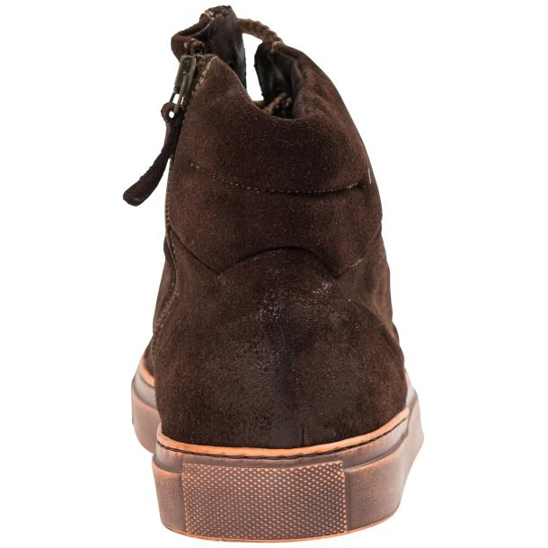 Sofie Dip Dyed Chocolate Brown Suede High Top Sneaker full-size #5