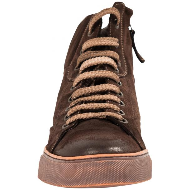 Sofie Dip Dyed Chocolate Brown Suede High Top Sneaker full-size #3