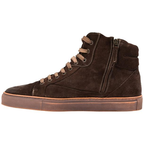 Sofie Dip Dyed Chocolate Brown Suede High Top Sneaker full-size #6
