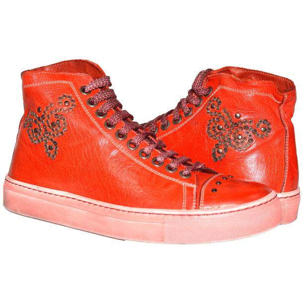 Misty Dip Dyed Red High Top Sneaker full-size #1