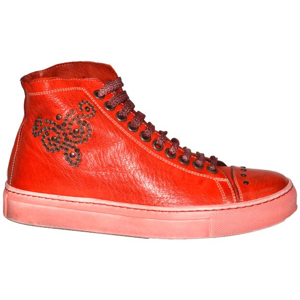 Misty Dip Dyed Red High Top Sneaker full-size #3