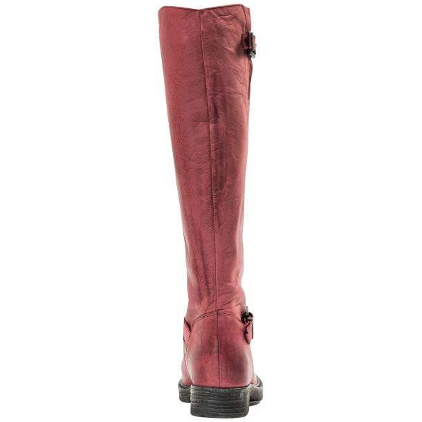 Taylor Bordeaux Nappa Leather Motorcycle Tall Boots full-size #3