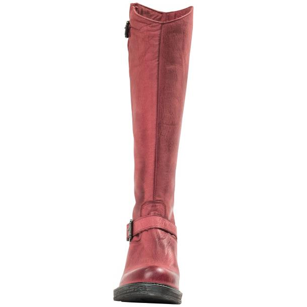 Taylor Bordeaux Nappa Leather Motorcycle Tall Boots full-size #2