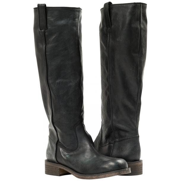 "Arya Black ""Nero"" Nappa Leather Tall Boots full-size #1"