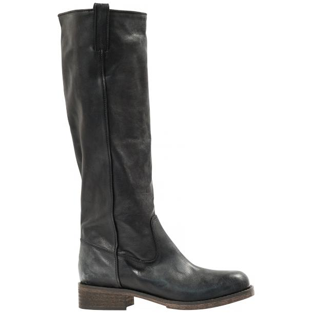"Arya Black ""Nero"" Nappa Leather Tall Boots full-size #4"