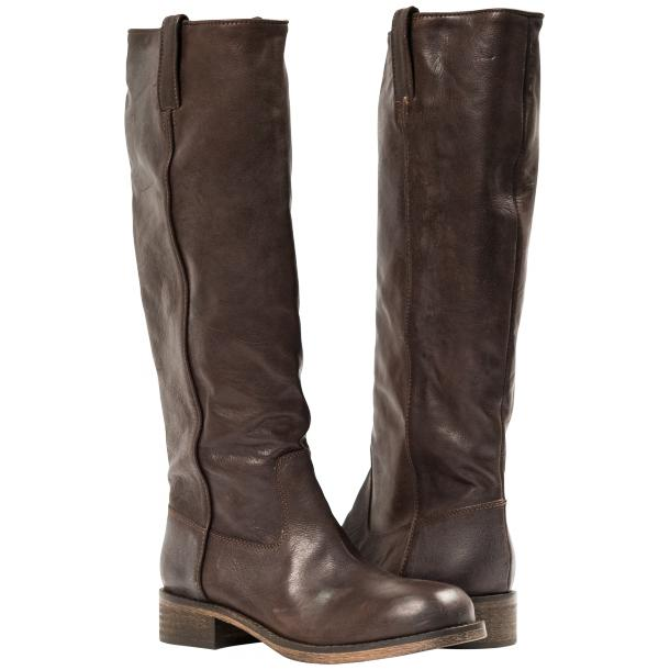 "Arya Dark Brown ""Moro"" Nappa Leather Tall Boots full-size #1"