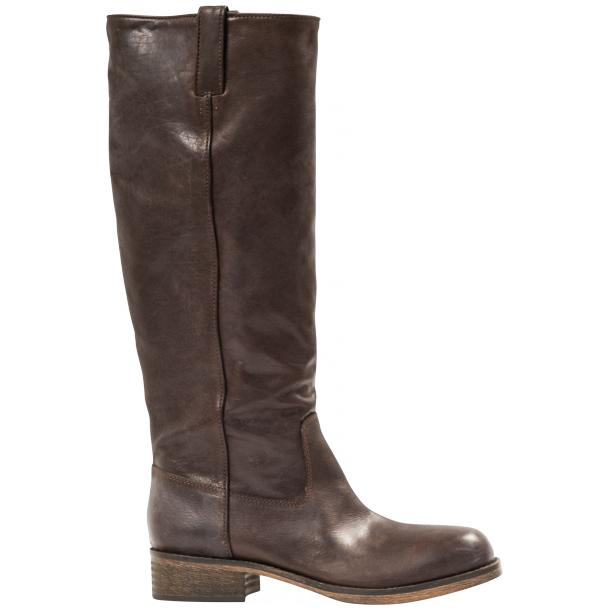 "Arya Dark Brown ""Moro"" Nappa Leather Tall Boots full-size #4"