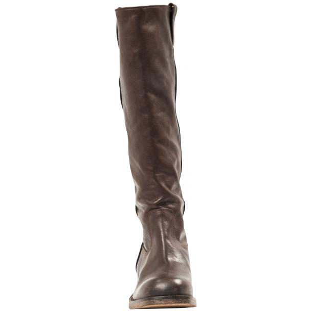 "Arya Dark Brown ""Moro"" Nappa Leather Tall Boots full-size #2"