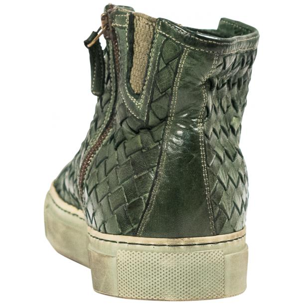 Rosalyn Dip Dyed Green Hand Woven High Top Sneaker  full-size #6