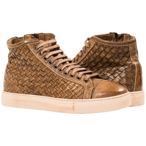 Gavin Dip Dyed Moor Hand Woven High Top Sneakers full-size #1