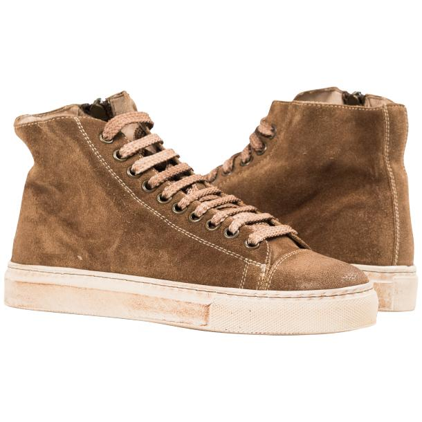 Ava Kangaroo Dip Dyed Suede High Top Sneakers full-size #1