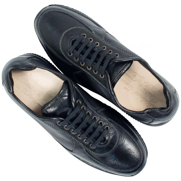 Misha Black Nappa Leather Rubber Sole Sneaker Shoes full-size #2