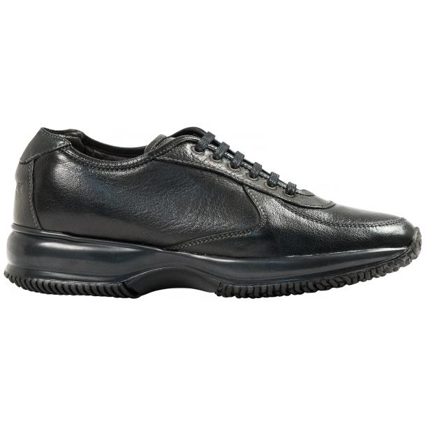 Misha Black Nappa Leather Rubber Sole Sneaker Shoes full-size #4