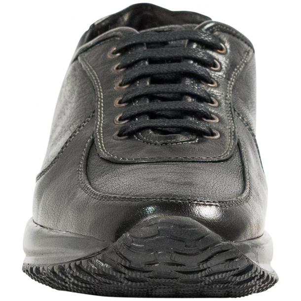 Misha Black Nappa Leather Rubber Sole Sneaker Shoes full-size #3