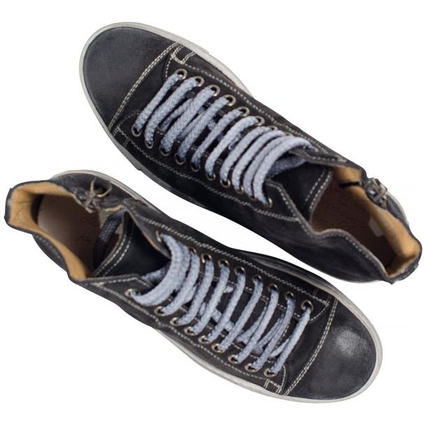Ava Dark Grey Dip Dyed Suede High Top Sneakers full-size #2