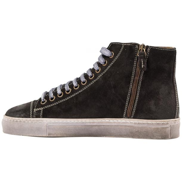 Ava Dark Grey Dip Dyed Suede High Top Sneakers full-size #5