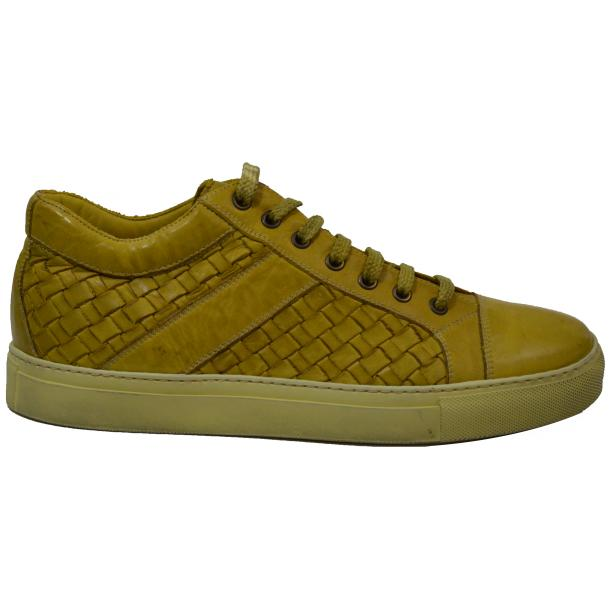 Tyler Dip Dyed Yellow Woven Sneakers Tan full-size #3
