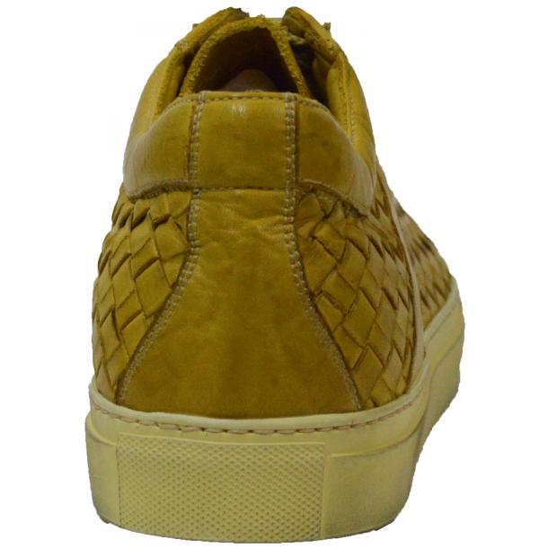 Tyler Dip Dyed Yellow Woven Sneakers Tan full-size #4