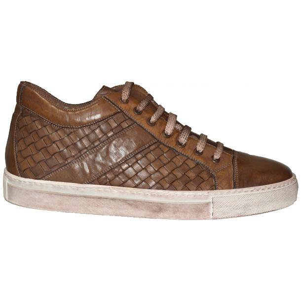 Carlo Dip Dyed Moor Woven Sneakers Tan full-size #3