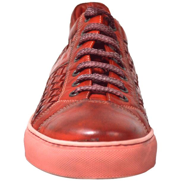Anka Dip Dyed Red Woven Sneakers full-size #2