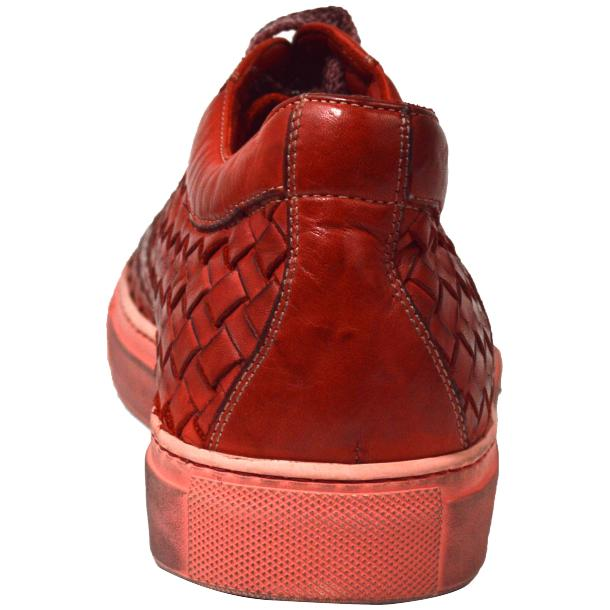 Anka Dip Dyed Red Woven Sneakers full-size #4
